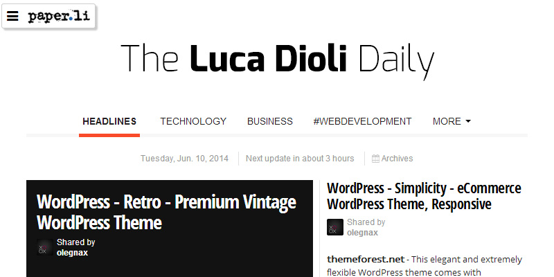 Paper.li - The Luca Dioli Daily